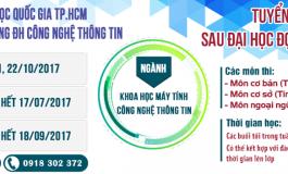 [UIT] THÔNG BÁO TUYỂN SINH SAU ĐẠI HỌC ĐỢT 2 - NĂM 2017