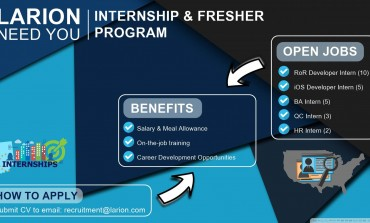 [LARION] INTERNSHIP & FRESHER PROGRAM