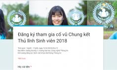 ĐĂNG KÝ THAM GIA CỔ VŨ CHUNG KẾT TLSV2018