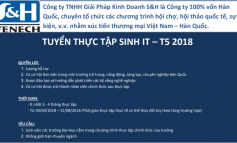 SH BSC Korea: TUYỂN SINH THỰC TẬP HÈ IT (May - Aug 2018)