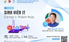 Webinar: Sinh viên IT – Cơ hội và Thách thức
