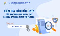 Kiểm tra ĐRL các hoạt động do khoa Hệ thống Thông tin tổ chức trong HK2 NH 2020 - 2021