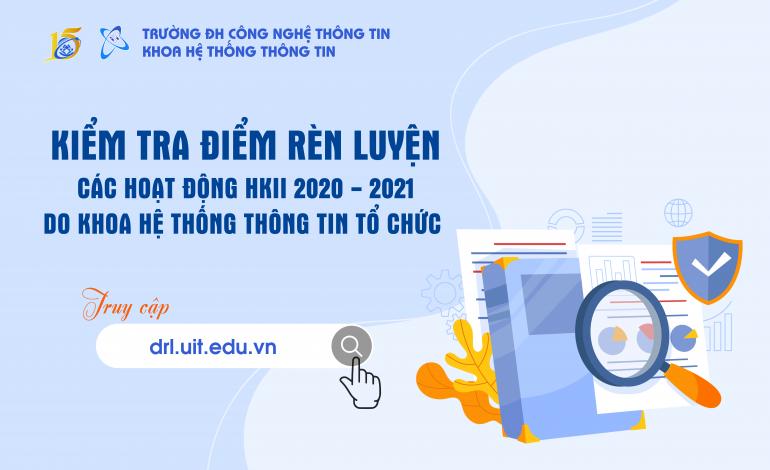 Kiểm tra ĐRL các hoạt động do khoa Hệ thống Thông tin tổ chức trong HK2 NH 2020 – 2021