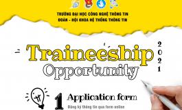TUYỂN CỘNG TÁC VIÊN ĐOÀN - HỘI KHOA HỆ THỐNG THÔNG TIN | TRAINEESHIP OPPORTUNITY 2021